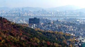 Blick auf die Skyline von Seoul