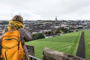 View of Derry on a backpacking Ireland trip