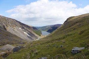 Landschaft und Hügel in Wicklow