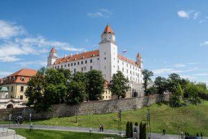 Außenansicht der Bratislava Burg