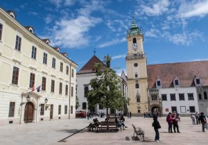 Hauptplatz und Altes Rathaus Gebäude