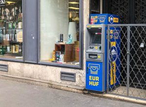 Street with ATM in Budapest