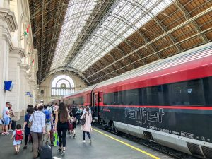 The train station of Budapest