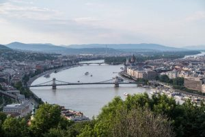 View of the Danube and the city