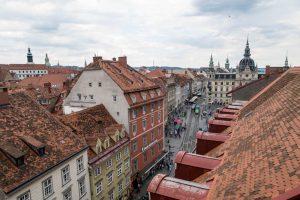 Blick vom Café auf die Innestadt