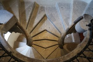 Die sehenswerte Wendeltreppe in Graz