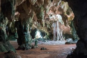 Innenaufnahme von Höhle auf Long Island