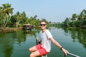 Auf dem Boot in Kerala