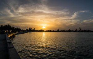Sonnenuntergang am Meer in Nassau New Providence