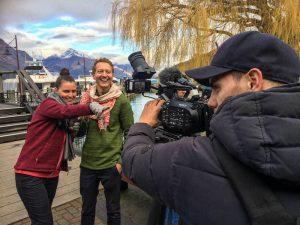 Filmcrew in Neuseeland