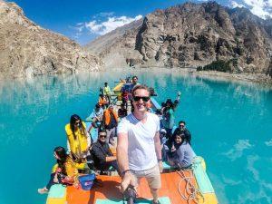 Selfie auf Boot im See