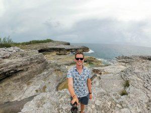 Felsformationen an der Küste von Eleuthera Bahamas