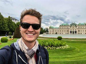 Selfie vor Schloss Belvedere