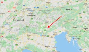 Landkarte mit Trentino