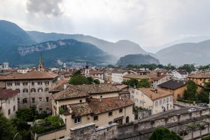 Aussicht auf Trient in Italien