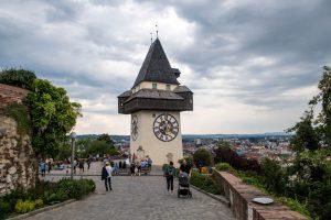 Der sehenswerte Grazer Uhrenturm