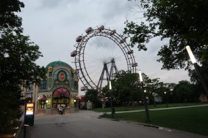 Blick auf das Riesenrad am Prater