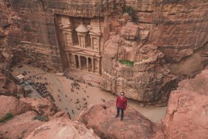 View of Petra in Jordan