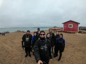 Selfie mit Gruppe