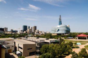 Blick auf Winnipeg Kanada