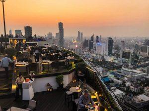 Skyline von Bangkok beim Sonnenuntergang