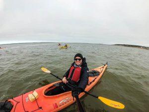 Im Kayak im Wasser