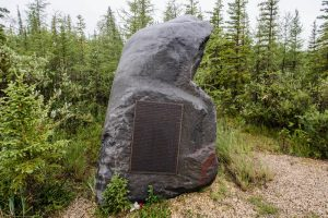 Gedenkstein in Wald