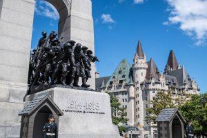 Das Nationale Kriegsdenkmal in Ottawa