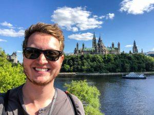 Selfie vor Parliament Hill