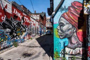 Bemalte Graffiti Alley als eines der Toronto Highlights