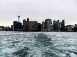 Der zugefrorene Ontariosee