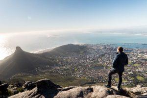 Aussicht von Berg auf Kapstadt