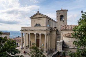 Blick auf Basilika von San Marino