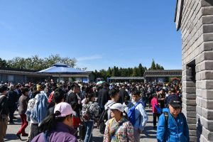 Lots of people during Chinese holiday