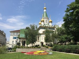 Sehenswerte russische Kirche in Sofia Bulgarien