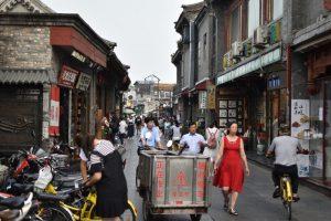 Marktstraße in Peking