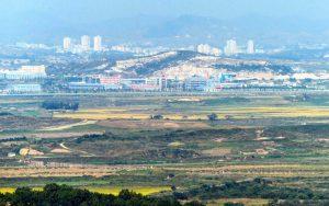 Blick auf Landschaft in Nordkorea