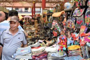 Colorful stands at Panjiayuan Antique Market