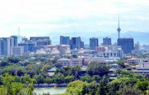 Aussicht vom Park auf Peking
