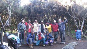 Group of porters on Kilimanjaro