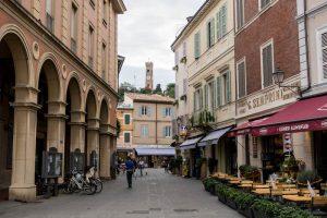 Straßen in Santarcangelo bei Rimini