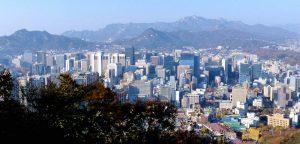 Aussicht auf Hochhäuser in Seul