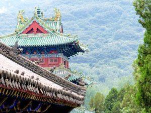Tempel in Wald in Shaolin