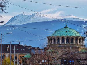 Blick auf den Vitosha Berg in Sofia