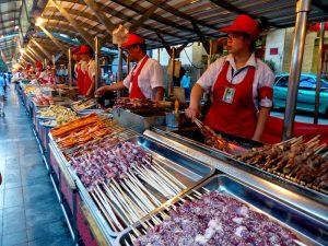 Street market in China