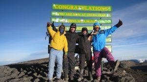 People at the Kilimanjaro summit