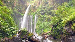Tiu Kelep Wasserfall auf Lombok