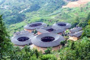 Fujian Rundhäuser von oben
