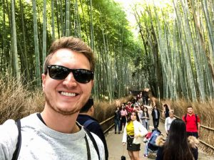 Selfie im Kyoto Bambuswald
