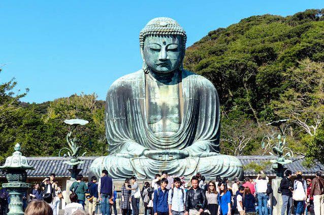 Daibutsu großer Buddha von Kamakura Japan